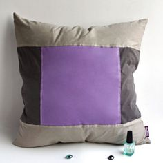 Onitiva - Purple Charm Knitted Fabric Patch Pillow Cushion Floor Cushion