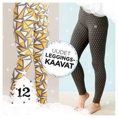 NOSH.FI - Iloista Joulua! -sivulla joulukuussa päivittäin uusia tuotteita! Nyt voit ladata naisten ja lasten leggings-kaavat ilmaiseksi! Lataa heti! - Download free sewing patterns for kids and women!