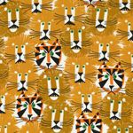 Lions and Tigers Ed Emberley Fabric by Cloud 9 Fabrics