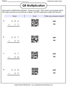 A Smartphone or iPad can be a classroom learning tool. Try QR code math practice.