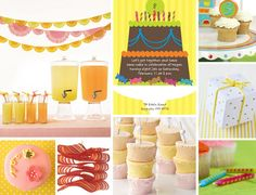 Pink, Orange and Yellow Party Ideas | TheCelebrationShoppe.com