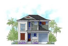 Two Bed Vacation Cottage House Plan - 33155ZR | Architectural Designs - House Plans