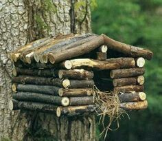 If you have some tree in your garden then you are surely hosting some every day. If you are a bird lover and wanted to welcome more and more birds to your garden. Why don`t you try making DIY bird houses. See the bird house ideas we prepared for you. Bird Houses Diy, Fairy Houses, Homemade Bird Houses, Bird House Feeder, Bird Feeders, Garden Crafts, Garden Projects, Garden Ideas, Wood Projects