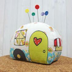 Pincushion Sewing Kit, Happy Camper, DIY Kit