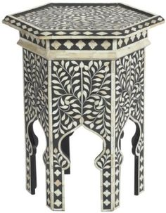 Zodax Marrakesh accent table by Barclay Butera Moroccan Design, Moroccan Decor, Moroccan Style, Indian Furniture, Furniture Decor, Painted Furniture, Moroccan Interiors, Estilo Boho, Marrakesh