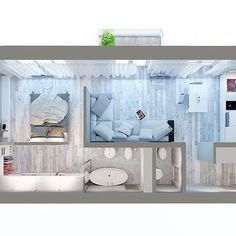 Wardrobe behind the bed Sims House Plans, Small House Plans, House Floor Plans, House Floor Design, Small House Design, Layouts Casa, House Layouts, Small Apartment Design, Apartment Layout