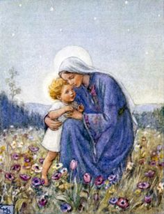 "Luke 2:7 ""And she gave birth to her firstborn son; and she wrapped Him in cloths, and laid Him in a manger, because there was no room for them in the inn.""  Margaret Tarrant: Artist"