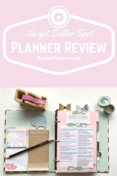 Target Dollar Spor planner review. This budget planner is a great start to monthly and weekly planning. It has a ringed binder similar to filofax, kate spade, kikki k, and others.
