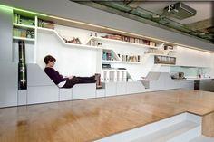 industrieller Wohnstil Innenarchitektur eingebaute LED Beleuchtung