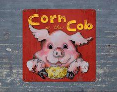 Corn on the Cob METAL Poster 11x11 FREE by ArtHouseGraffiti, $49.00