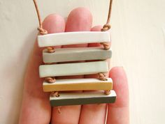 similar design in PC? With patterened bars? chelseyladams etsy - porcelair bars pendant