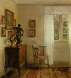 Interior With Bureau (Carl Vilhelm Holsøe)