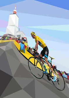Chris Froome Ascending on Ventoux