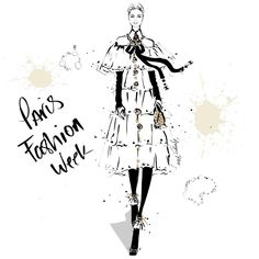 """856 Likes, 9 Comments - Megan Hess (@meganhess_official) on Instagram: """"Paris Fashion Week! I have just released 4 new Fashion Week Art Prints to my online shop. Available…"""""""
