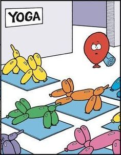 Yoga isnt here to change us or make us better. Yoga is here to help us remember to reveal our own inherent strenght beauty passion peace prosperity healing and so much more. Yoga Meme, Yoga Jokes, Yoga Humor, Workout Humor, Funny Yoga, Gym Humor, Funny Cartoons, Funny Comics, Funny Memes
