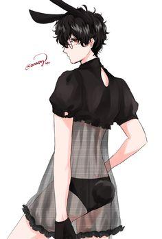 Anime Cat Boy, Neko Boy, Cute Anime Boy, Anime Boys, Anime Sexy, Hot Anime Guys, Akira Kurusu, Anime Maid, Maid Outfit