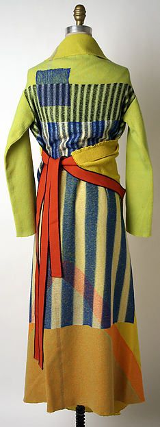 Issey Miyake (Japanese, b.1938) | Dress (back), Miyake Design Studio, fall/winter 1997-98. Wool, nylon.