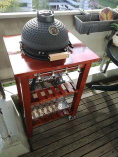 BBQ grill table for my mini-kamadogartentisch BBQ grill table for my mini-kamado Outdoor ISIDOR Badezuber Badefass Badetonne Badebottich Whirlpool Outdoor Hot Tub Sauna . Mini Grill, Bbq Grill, Grilling, Table Bbq, Bbq Egg, Ikea Outdoor, Outdoor Spaces, Outdoor Living, Kamado Grill