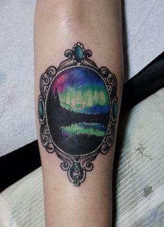 Northern lights / Nordlichter / tattoo