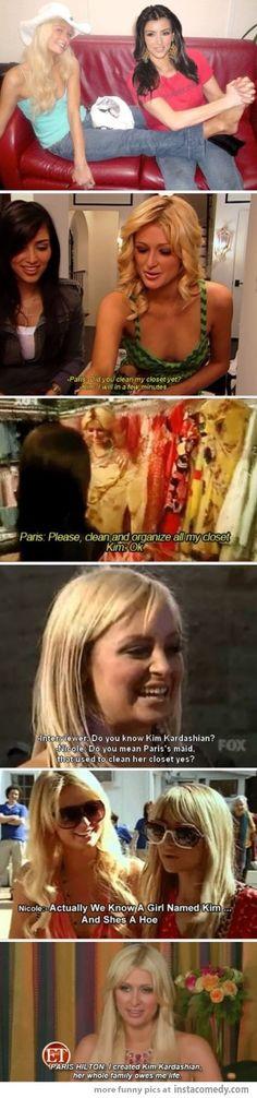 Paris Hilton disses Kim K hard