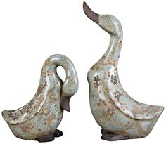 Set of 2 Uttermost Citrita Decorative Ceramic Ducks |