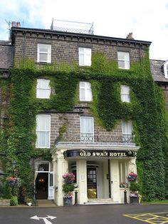 The Old Swan Hotel, Harrogate. Staying here his week for a short half term break with my son to explore Harrogate and see Charlotte Cory's 'Visitorian' exhibition. (Agatha Christie disappeared here in December 1926, while a sensational, 11-day manhunt for the missing novelist raged. On being recognised by a banjo player, she was found to have checked in to the hotel under the name of her husband's mistress, Teresa Neele.).
