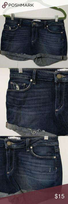 Paige denim shorts, Jimmy Jimmy shorts Dark blue distressed denim shorts PAIGE Shorts Jean Shorts