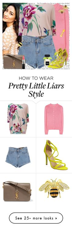 """Pretty Little Liar"" by msfashionchick on Polyvore featuring Miu Miu, Phase Eight, Chicnova Fashion, Yves Saint Laurent, MAC Cosmetics, Victoria's Secret, Burt's Bees and Kate Spade"