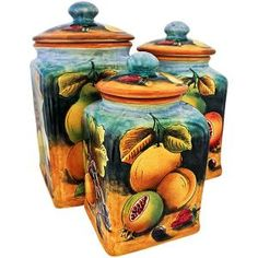 Square FruitKitchen Canister