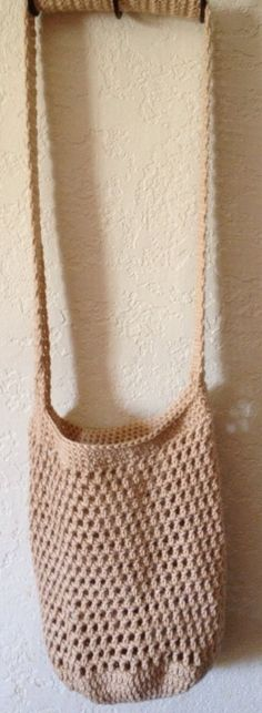 Taupe Mesh Market Tote by SpiderCreations on Etsy, $15.00
