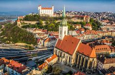 The Old Town of Bratislava (Slovak: Staré Mesto) is the historic center and one of the boroughs of Bratislava, in the Bratislava Region of Slovakia. The Beautiful Country, Beautiful Places, Prague Attractions, Panorama City, 1. Mai, Bratislava Slovakia, Travel Souvenirs, Medieval Town, E Bay