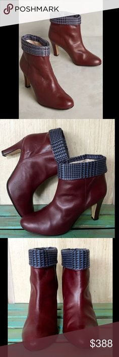 Selling this Anthropologie  Leather Foldover Cuff Check  Boots on Poshmark! My username is: richbororiches. #shopmycloset #poshmark #fashion #shopping #style #forsale #Anthropologie #Shoes