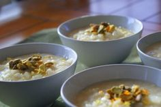 A modern twist on a classic Egyptian recipe for rice pudding (roz bi laban or ruz bi laban).Uses cardamom and citrus zest, and gives details on the types of Rice Pudding Recipes, Creamy Rice Pudding, Egyptian Food, Egyptian Recipes, Healthy Rice, Brunch, Acquired Taste, Thinking Day, Arroz Con Leche