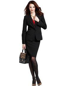Wear What Works Pencil Skirt & Blazer Look - Womens The Skirt - Macy's
