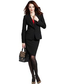 Wear What Works Pencil Skirt & Blazer Look - Womens The Skirt - Macy's