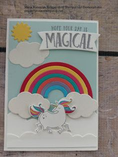 2017 VIDEO TUTORIAL The unicorn and matching framelits are in a bundle Magical Day Bundle and Rainbow Builder Framelits Dies