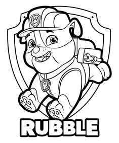 Rubble Paw Patrol Coloring Page Rubble Paw Patrol Coloring Page. Rubble Paw Patrol Coloring Page. Chase Paw Patrol Coloring Page Printable Free Printable Paw in paw coloring page Coloring Pages For Kids Paw Patrol Page Rubble And Chase Halloween Coloring Pages, Cartoon Coloring Pages, Mandala Coloring Pages, Christmas Coloring Pages, Animal Coloring Pages, Coloring Pages To Print, Coloring Book Pages, Printable Coloring Pages, Rubble Paw Patrol