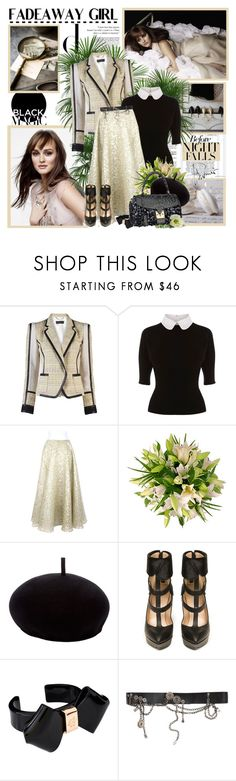 """Fadeaway girl - Leighton Meester"" by helleka ❤ liked on Polyvore featuring Barbara Bui, Karen Millen, Rochas, Henrik Vibskov, Rodarte, Louis Vuitton, Ted Baker, McQ by Alexander McQueen, cuff bracelets and top handle bags"