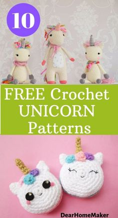 These beautiful unicorn crochet pattern are absolutely free. The list has unicorn toys, bag, cushions to headband. Click through to get the full patterns. Crochet Unicorn Blanket, Crochet Unicorn Pattern Free, Crochet Mermaid, Crochet Poncho Patterns, Free Crochet, Kids Crochet, Amigurumi Patterns, Crochet Ideas, Unicorn Cushion