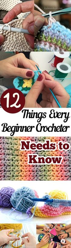 12 Things Every Beginner Crocheter Needs to Know | Crochet, Crochet Tips for Beginners, How to Crochet, Crafts, Crafting for Beginners, Easy Crocheting Tips and Tricks, Crafting Tutorials, Popular Pin