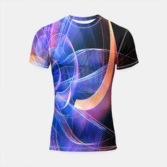 Abstraction Shortsleeve Rashguard, Live Heroes @liveheroes #watercolor #blue #violet #shirt #apparel #fashion  #clothes #fashionblogger #liveheroes #OksanaAriskina  @photography_art_decor