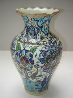 Antique Ottoman Turkish Islamic Kutahya Ceramic Vase   eBay