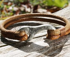 "Vintage Brown Leather Bracelet with a ""Hook"" Clasp - OZWristGear.com – OZ Wrist Gear Leather Bracelets"