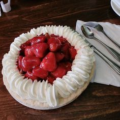 Our favorite part of summer…fresh strawberry pie!                       PC: @sophiaaaaa.j #pie #strawberrypie #strawberry
