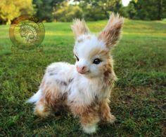 Woodsplitterlee-Handmade-Poseable-Baby-Spotted-Miniature-Donkey
