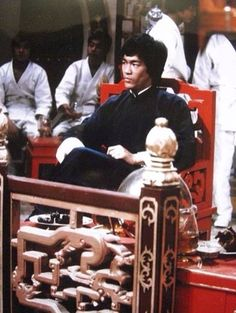 Bruce Lee on the Set Of Enter The Dragon..