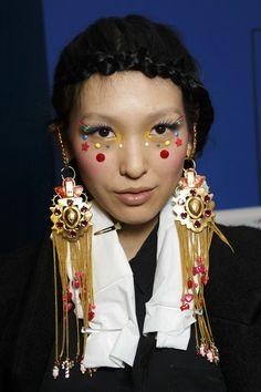 Manish Arora at Paris Fashion Week Fall 2014 - backstage