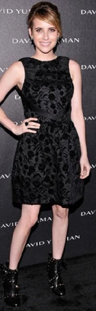 Emma Roberts wearing the Valentino Rockstud boots  Fall-Winter 2012/2013 Collections