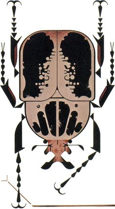 The African goliath beetle is one of the heaviest of insects, by Charley Harper from The Animal Kingdom by George S. Fichter, 1968