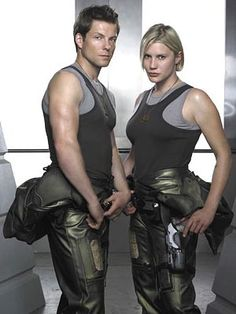 Apollo and Starbuck - my two favorite BSG characters, even though they both have their many idiotic moments!